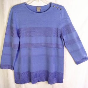 10 - Chicos Slinky Shimmer Sweater Blouse